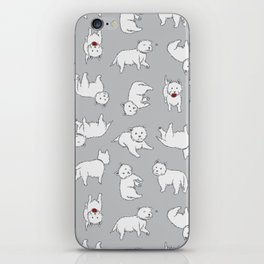 Playful Westies iPhone Skin