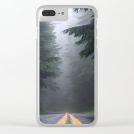 Foggy Road Clear iPhone Case