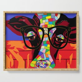 Spectacled Cow Serving Tray