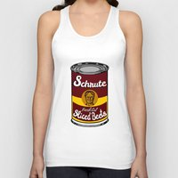 dwight schrute Tank Tops featuring Schrute Fresh Cut Sliced Beets  |  Dwight Schrute  |  The Office by Silvio Ledbetter
