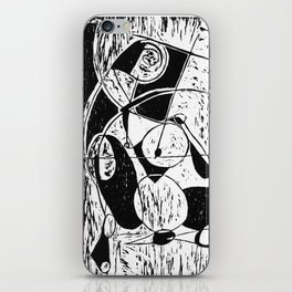 Xylography femme iPhone Skin