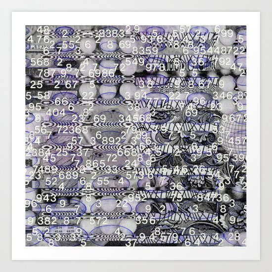 Post-Digital Tendencies Emerge (P/D3 Glitch Collage Studies) Art Print