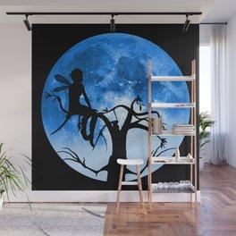 Moonlight Wondering Fairy Wall Mural