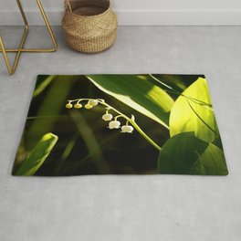 Lily Of The Valley Forest Scene #decor #society6 #buyart Rug