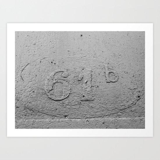 Number 61-B Art Print