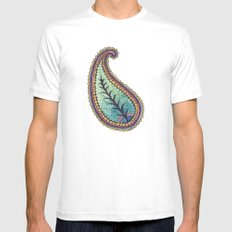 October Paisley MEDIUM Mens Fitted Tee White