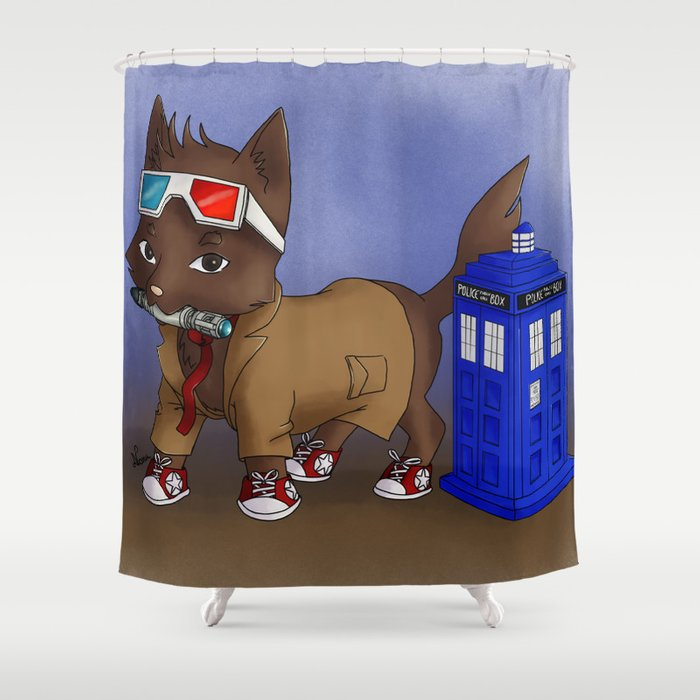 Doctor Wolf 10th Shower Curtain
