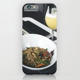Thai noodle serving with mango smoothie iPhone Case