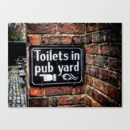 Victorian Pub Sign Canvas Print