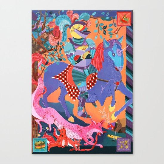 Picnic Knight Canvas Print