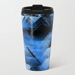 Abstract geometric blue Travel Mug