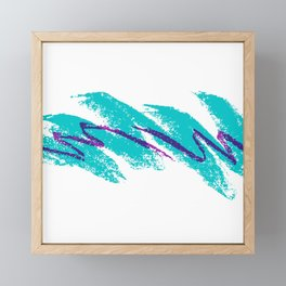 Solo Jazz Cup 90s Pattern Framed Mini Art Print