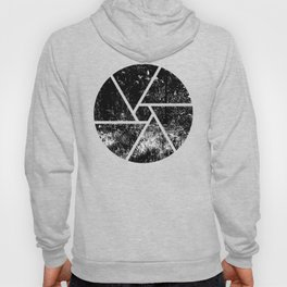 Forest mess black and white high contrast abstract plants Hoody