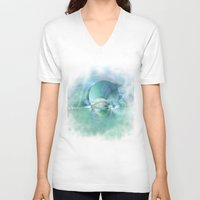heaven V-neck T-shirts featuring Heaven by Christine baessler