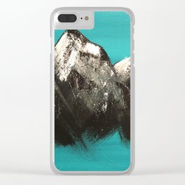 Turquoise Mountains by Noelle's Art Loft Clear iPhone Case