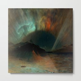 Aurora Borealis by Frederic Edwin Church Metal Print