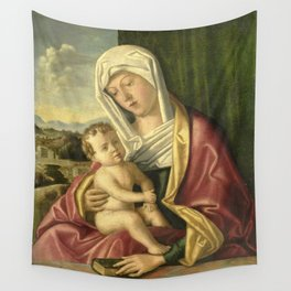 """Giovanni Bellini """"Madonna and child"""" (3) (1490 - 1520) Wall Tapestry"""