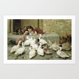 Briton Riviere~The Last Spoonful Art Print