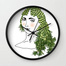 horsetail girl Wall Clock