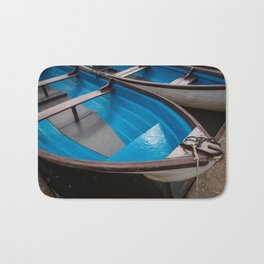 Blue Row Boats Bath Mat
