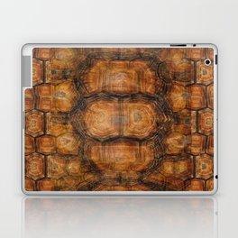 Brown Patterned  Organic Textured Turtle Shell  Design Laptop & iPad Skin