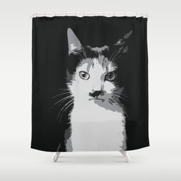 A Feline Mastermind Shower Curtain