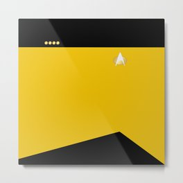 Star Trek: TNG Yellow Captain Uniform Metal Print