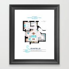 Jerry Seinfeld Apartment v2 Framed Art Print