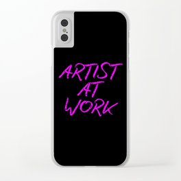 Artist at Work (pink) Clear iPhone Case