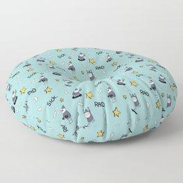 sick wizards blue Floor Pillow