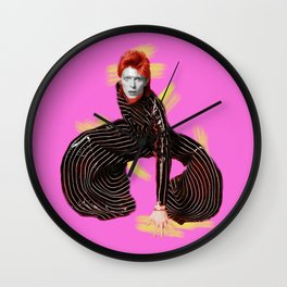 pinky bowie4 Wall Clock