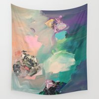 mineral Wall Tapestries featuring Mineral Meteor by Sara Cannon Art