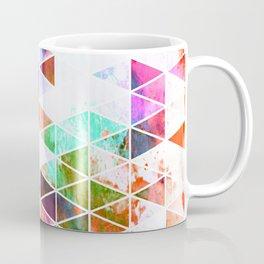 Pink Grungy Triangle Design Coffee Mug