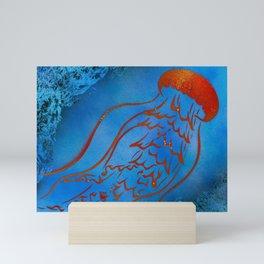 Orange Jellyfish Mini Art Print