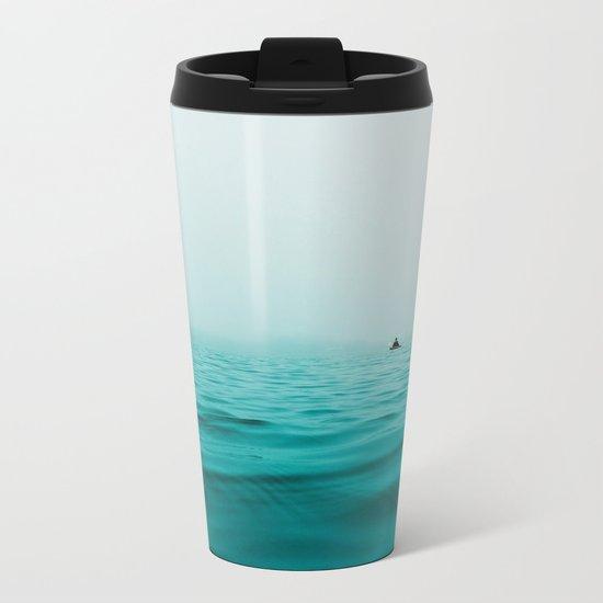 turquoise sea Metal Travel Mug