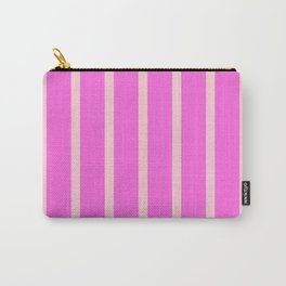 Simply Pink Stripes Carry-All Pouch