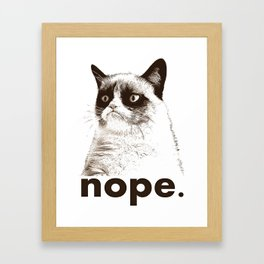 GRUMPY CAT - Nope (version 2) Framed Art Print