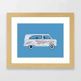 Grease Van Lightning Framed Art Print