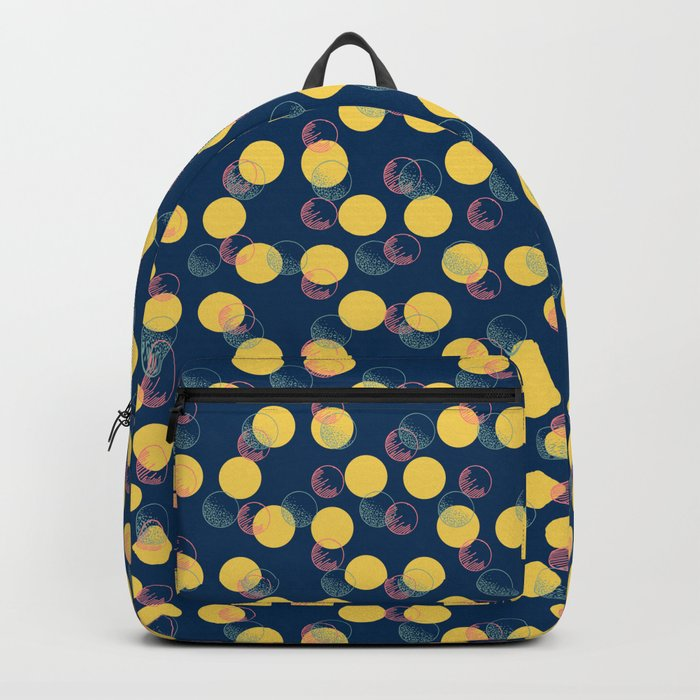 479507abe2 Yellow Polka Dots And Scribbles Backpack by designdn