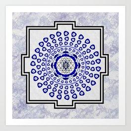 108 Evil Eye Sri Yantra Art Print