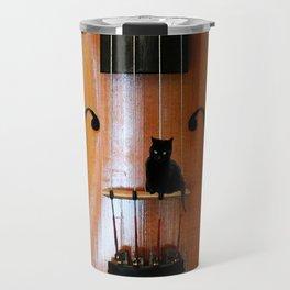 Black Cat And Violin #decor #society6 Travel Mug