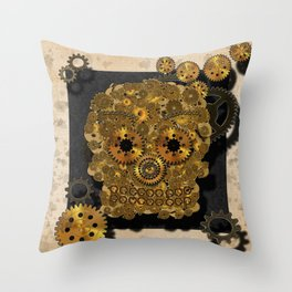 Engrenage Throw Pillow