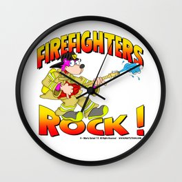 Firefighters Rock Merchandise Wall Clock