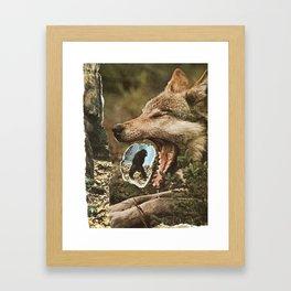 Spitting out or eating? Framed Art Print