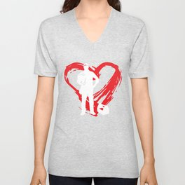 Electrician Heart Unisex V-Neck
