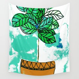 Indoor plant in pot Wall Tapestry