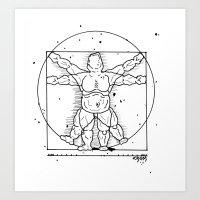 Vitruvian Travels. Art Print