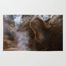 Kerlingarfjöll mountain range in Iceland - Aerial Landscape Photography Rug