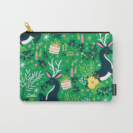 Festive Deer Carry-All Pouch