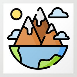 Mountain Life Art Print